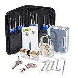 vlendx 25Pcs déverrouillage serrures Outils Set clé dynamométrique serrures Transparentes clés avec étui