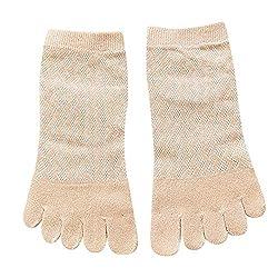 XuxMim Frauen Solid Color Zehensocken Five Finger Socks Baumwolle Weiche Lustige Socken