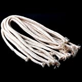 "10Pcs 1.34Feet Long Dia. 1/4"" Round Cotton Kerosene Oil Lamp Wicks Burner"