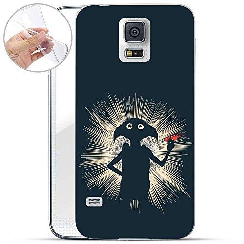 FINOO HARRY POTTER SERIE 02 Silicone Harry Potter Samsung Galaxy S5 Neo - Dobby invisible, Samsung Galaxy S5 Neo