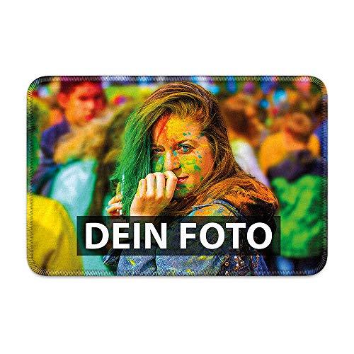 Fußmatte zum selbst Gestalten/mit eigenem Foto Bedrucken Lassen/Schmutzfang-Matte/Fuß-abtreter/Teppich/Gekettelt 60 x 40 cm