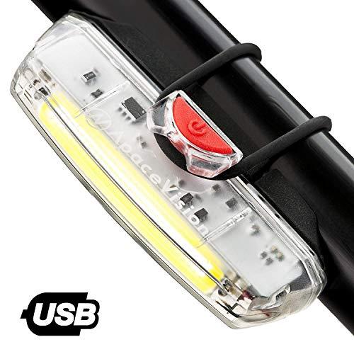 Luz de Bicicleta Delantera Recargable USB Apace Illuma ZT3000 Potente LED faro Delantero Bici Lúmenes...