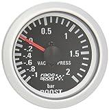 "Sumex Blck701 - Manómetro, Color Negro, Presión Turbo,""Race Sport"", Diámetro 52 m 12V"