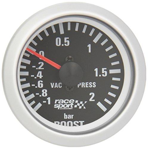 Sumex Blck701 Race Sport - Manometro, Nero Pressione Turbo, 52 mm