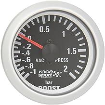 "Sumex Blck701 - Manómetro, Color Negro, Presión Turbo, ""Race Sport"", Diámetro 52 m 12V"