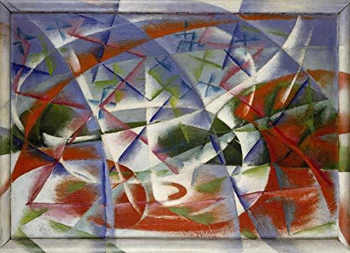Giacomo Balla Giclee Auf Leinwand drucken-Berühmte Gemälde Kunst Poster-Reproduktion Wand Dekoration(Geschwindigkeits-Zusammenfassung und der Ton) #XFB -