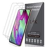 LK Protection écran pour Samsung Galaxy A40 [3 Pièces], Verre Trempé Protection Film [Max Coverage][sans Bulles][Garantie de Remplacement à Durée de Vie]