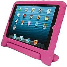 KHOMO® Funda SAFEKIDS de Goma Protectora Antichoque para Niños - Compatible con Apple iPad Air 1 - Rosa