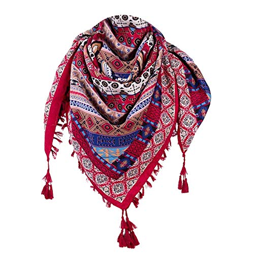 Lambswool Schal Kragen (TianWlio Frauen Schals Frauen Neue Mode Frauen Winter Herbst Floral Schal gedruckt Quaste Schal Schal)