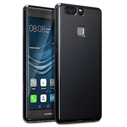 Huawei P9 Plus Case, Terrapin TPU Schutzhülle Tasche Case Cover für Huawei P9 Plus Hülle Matt Schwarz