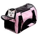 Trasportino Morbido per animali domestici Cani e Gatti - Piccolo portatile, in tessuto morbido e leggero Airline Approvato rosa 42cm*20cm*30cm