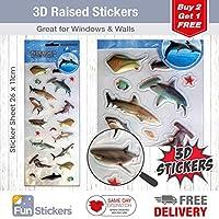 Fun Stickers 3D Undersea Sharks 1515