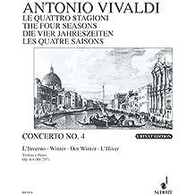 """Die vier Jahreszeiten: """"Der Winter"""" f-Moll. op. 8/4. RV 297 / PV 442. Violine, Streicher und Basso continuo. Klavierauszug mit Solostimme."""