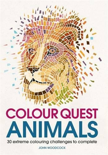 Colour Quest Animals (Colouring Books) por John Woodcock