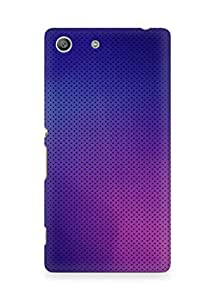 Amez designer printed 3d premium high quality back case cover for Sony Xperia M5 (Pattern purple color)
