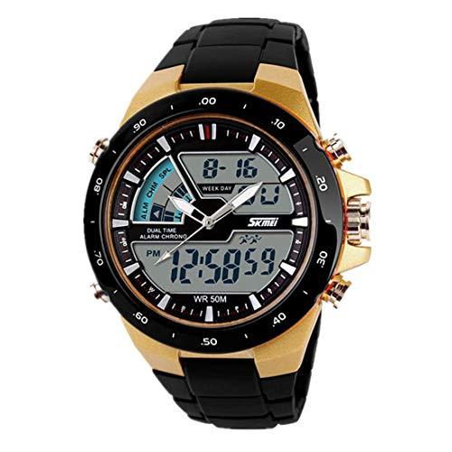NEEKY Herren Silikon Sportarmband und Fitnessband - Wristband Armbänder für Fitbit Schrittzähler,Wasserdichte Jungen Digital LED Sportuhr Alarm Date Watch