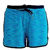 LEEDY  Damen Shorts Sport Kurze Hosen Krawattenfärben Laufshorts Fitness Yoga Hose Leggings mit Tunnelzug Sommerhose Sporthose