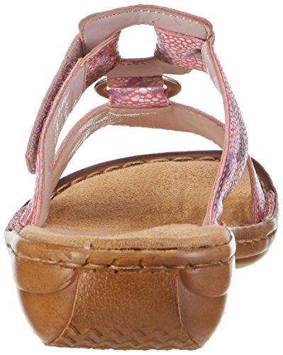 Rieker 608a0, Mules Femme Multicolore (Pink / 31)