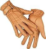 HKM Damen Lederhandschuh aus Nappaleder Handschuhe, Beige, S