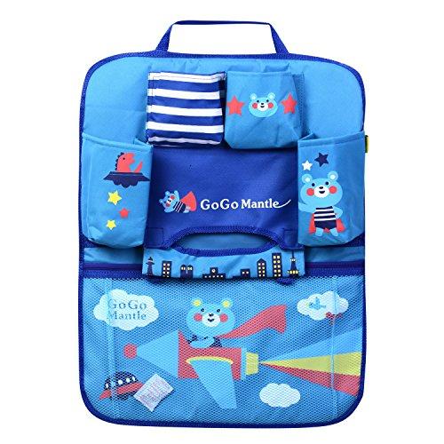 HomDSim Organizador de asiento de coche con diseño de dibujos animados, bolsas de almacenamiento para colgar, organizador de coche, organizador para niños (Bear)