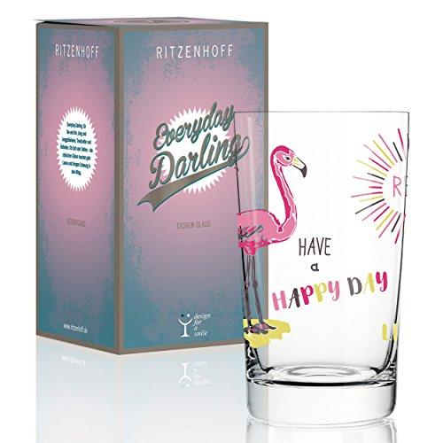 RITZENHOFF Everyday Darling Softdrinkglas von Michaela Koch , aus Kristallglas, 300 ml, mit trendigen Dekoren