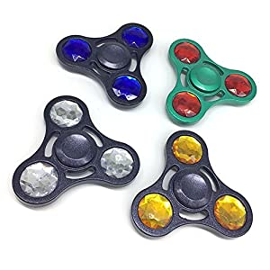 dikeshop Gem Hand Spinner Stress Relief Toy, Tri-Spinner Tri Toy EDC Focus Toy for Killing Time from dikeshop