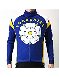 BSK Yorkshire Blizzard Winter Thermal Water Resistant Long Sleeved Cycling  Jersey Blue 9953b6c6b