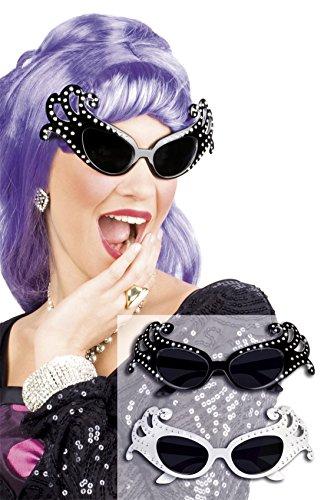 Halloweenia - Oversize Brille, Diva, Kostüm, Sonnenbrille, Schwarz