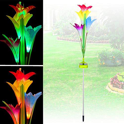 e Solar Angetrieben Garten Pfahl Licht Mehrfarben Veränderung LED Licht ()