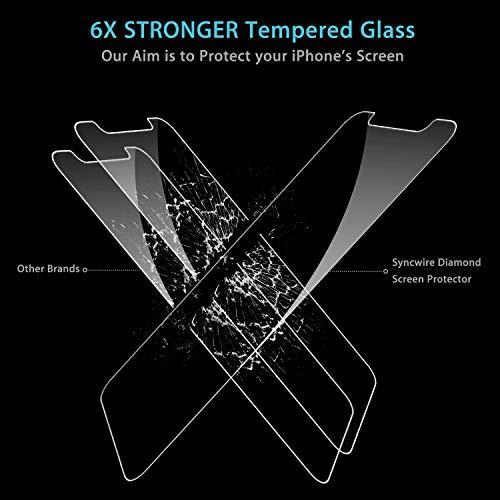 Syncwire Vetro Temperato iPhone X XS, 3-Pezzi Pellicola Protettiva HD 9H Durezza Ultra Resistente Vetrino per Apple XS X 10 Compatibile con 3D Touch, Alta Trasparente, Senza Bolle, Anti-Impronte