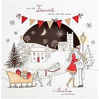 Hallmark Christmas Card To Fiancé 'Forever Together' - Medium Square