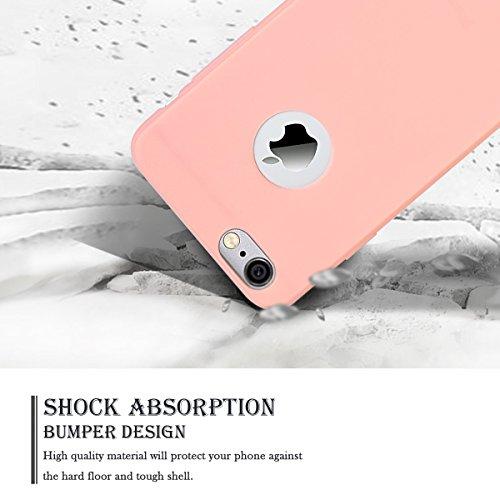 2 x Etui iPhone 7 4.7, SpiritSun Etui Coque TPU Slim Bumper pour Apple iPhone 7 (4.7 pouces) Souple Housse de Protection Flexible Soft Case Cas Couverture Anti Choc Mince Légère Silicone Cover - Noir  Rose + Bleu Marin