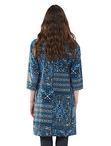 Coton Robe needlecord Bleu