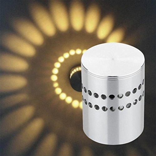 Trou Surface Spirale Taottao Décoration Installer Lumière Luminaire La Led Lampe Murale De Maison OPwkn80X