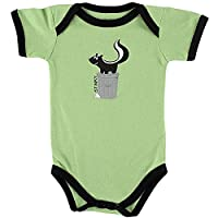 Luvable Friends Baby Sayings Boys Bodysuit Vest (6-9 Months, Green Skunk)