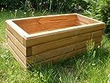 KENA D-2 Garden Holz Pflanzkasten Höchste Qualität Blumenkasten (Länge 100 cm, Eiche)