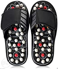 Spring Acupressure & Magnetic Therapy Accu Paduka Slippers For Full Body Blood Circulation (Size : 8) 10 inch