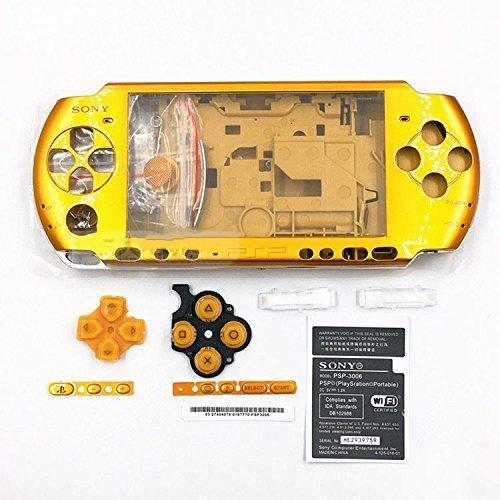 Schutzhülle mit Tasten Kit Set für Sony PSP3000PSP 30003001300230033004Serie Ersatz-Gold ()