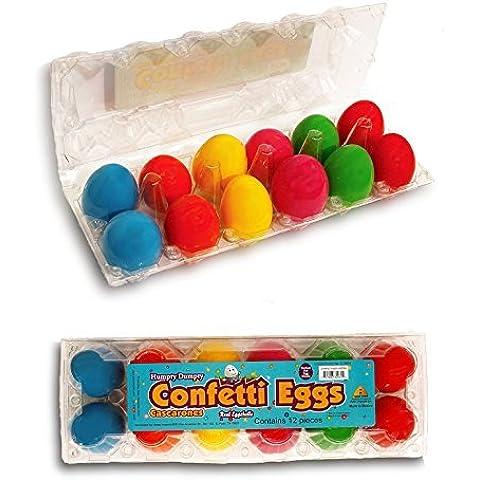 Humpty Dumpty Confetti Eggs Cascarones (2 Dozen) by