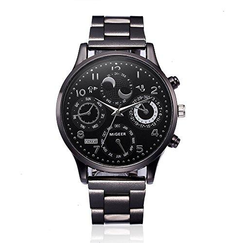 Celucke Armbanduhr Herren Quarz Uhr mit Edelstahl Metallarmband, Männer Uhren Business Herrenuhr Klassisch Sportuhr Analoguhr Elegant Quarzuhr