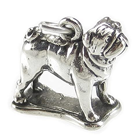 Pug dog sterling silver charm .925 x 1 Pugs Dogs charms SSLP4747