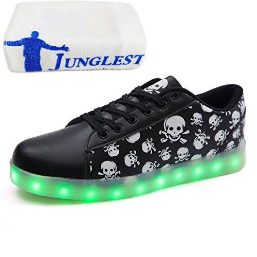 (Présents:petite serviette)JUNGLEST® Haute Qualité Chaussure LED Lumineux 7 Changements de Couleur Reglable Rechargeable avec USB Prise Unis
