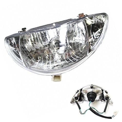 SCHEINWERFER LAMPE / HAUPTSCHEINWERFER z.B. passend für REX RS 400 / RS 460 / AGM GMX / BOSTON8 / RALLOX und baugleiche.... SHENKE JONWAY JINAN QINGQI CHINA ROLLER