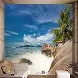 Leegt 3D-Cd-Sea Island Beach Tv Hintergrund Wandmalerei Das Wohnzimmer Schlafsofa Schlafzimmer Dekor...