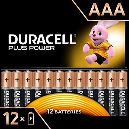 Duracell Plus Power Piles AlcalinesType AAA, Lot de 12 Piles (Visuel non Contractuel)