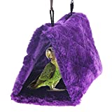 MEYLEE Hamaca para Pájaros Colgante Snuggle Cave Happy Hut Bird Parrot Hideaway Talla S