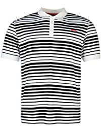 Slazenger Homme Fine Rayure Polo Shirt T-Shirt Tee Top Haut Manches Courtes