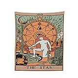 Redvive TopTarot Tapiz La Luna Estrella Sol Medieval Europa Adivinación Colgante de Pared Caliente