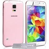 Yousave Accessories Schutzhülle Samsung Galaxy S5Schutzhülle Klar Ultradünn Silikon Gel Schutzhülle