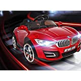 Baybee BWM Battery Operated Ride On Car for Kids with Music, Horn, Headlights with 30Kg Weight Capacity - Red